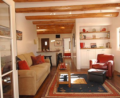 Luxurious Living Room In Short Term Rental In Santa Fe