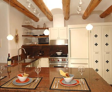 Fully Equipped Kitchen In Short Term Rental In Santa Fe