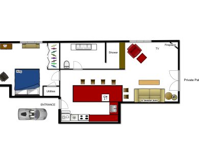 Layout of Casa Perla, Luxurious Rental In Santa Fe