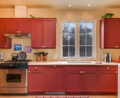 Rustic Style Kitchen in Santa Fe Vacation Rental