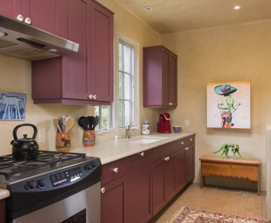 Southwestern Style Kitchen in Santa Fe Vacation Rental