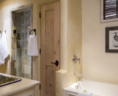 Santa Fe Vacation Rental Master Bathroom with Luxury Walk-In Shower
