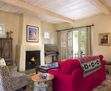 Living Room with Fireplace Santa Fe Vacation Rental