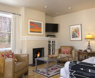 Casa Simpatica Living Room FIreplace