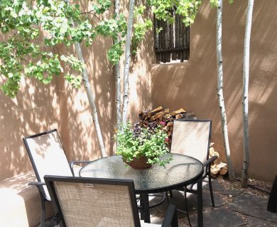 Patio Table at Santa Fe Vacation Rental