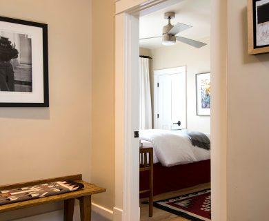 Hallway of Living Room Opens to the Queen Bedroom
