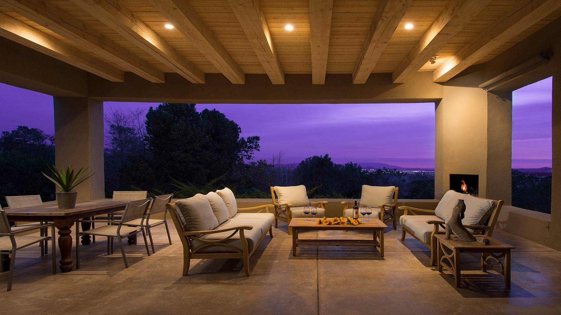 Santa Fe Vacation Rental Open Outdoor Living Space