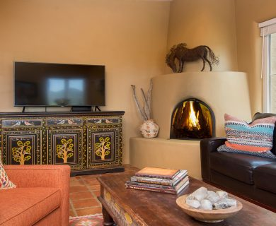 Rustic Media Room Santa Fe Vacation Rental