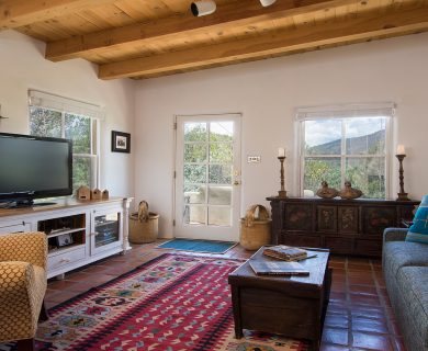 Living Area in Santa Fe Vacation Rental Casita