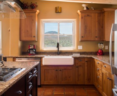 Open Kitchen with Natural Lighting Santa Fe