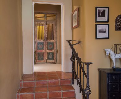 Santa Fe Vacation Rental with Brick Floor