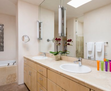 Vacation Rental Master Bathroom With Two Sinks
