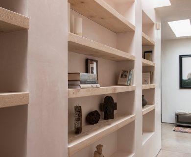 Southwest Style Built in Bookshelf