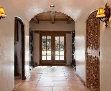 Southwest Style Entryway In Santa Fe Vacation Rental