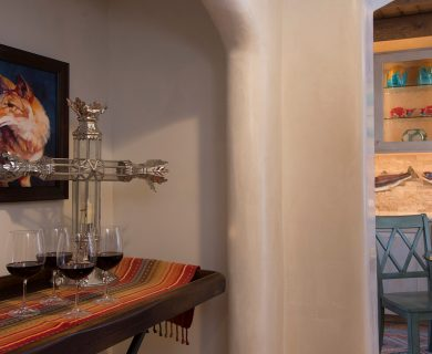 Home Bar in Santa Fe Vacation Rental