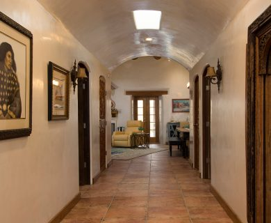 Southwestern Entry Hallway - Luxury Vacation Rentals