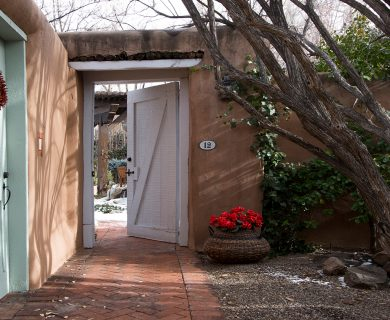 Courtyard Entrance Santa Fe Vacation Rental