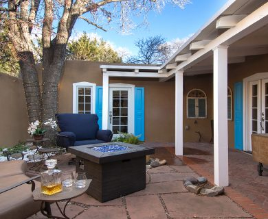 Santa Fe Vacation Rental with Courtyard