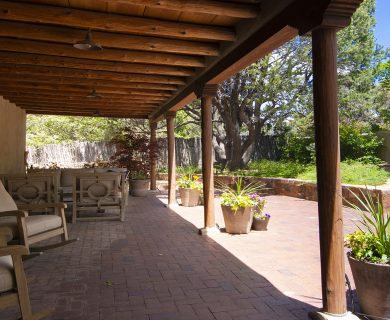 Santa Fe Vacation Rental Southwest Style Outdoor Space