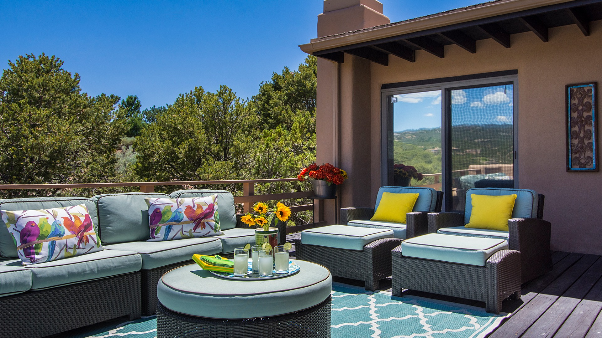 Santa Fe Vacation Rental with Elevated Deck