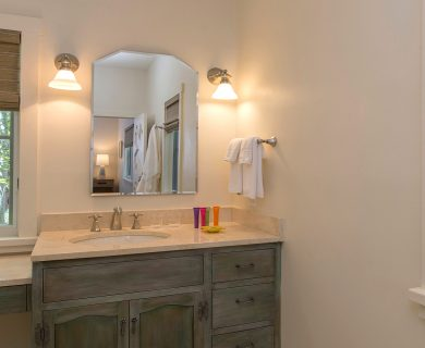 Santa Fe Vacation Rental Guest Bathroom