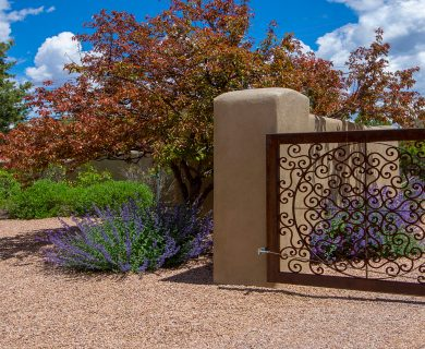 Santa Fe Vacation Rental Entrance Gate