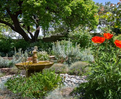 Santa Fe Vacation Rental with Garden Fountain