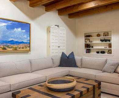 Santa Fe Vacation Rental Wrap Around Couch