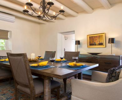Santa Fe Vacation Rental Dining Room