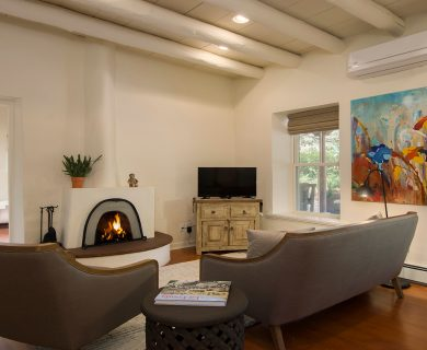 Santa Fe Vacation Rental with Fireplace