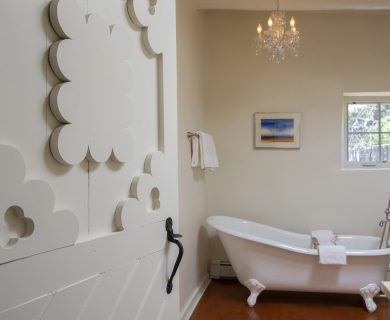 Luxury Vacation Rental Master Bathroom in Santa Fe