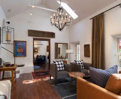 Graceful Chandeliered Living Room