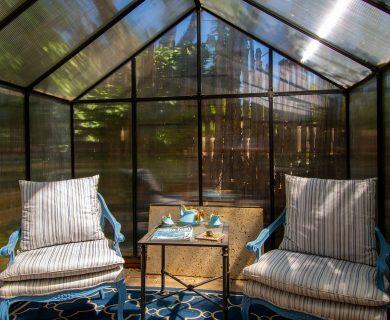 Converted Greenhouse, Outdoor All Season Solar Room