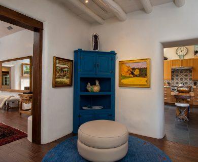 Blue Armoire in Hallway